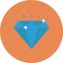 diamond, gem, luxury, sparkle, value, wealth icon icon
