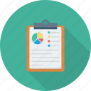 analytics, charts, clipboard, graph, monitoring, report icon