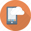 android, cloud, computing, device, mobile, phone icon
