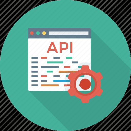 api, app, coding, development, settings, software, web icon