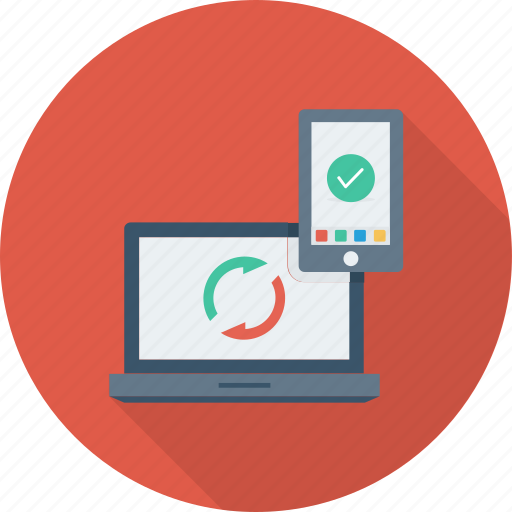 app, device, exchange, link, sync, web icon