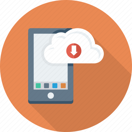 application, cloud, download, import, iphone icon