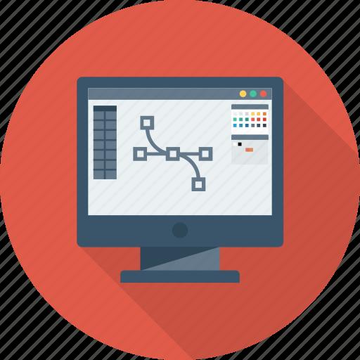 art, creative, design, monitor, tool icon