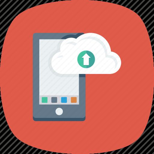 App, cloud, drive, mobile, upload icon - Download on Iconfinder
