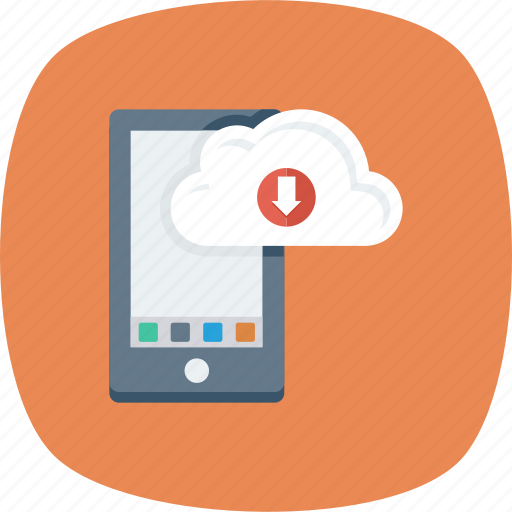 Application, cloud, download, import, iphone icon - Download on Iconfinder