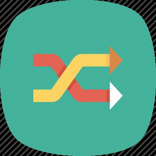 arrows, mix, random, randomize, shuffle icon
