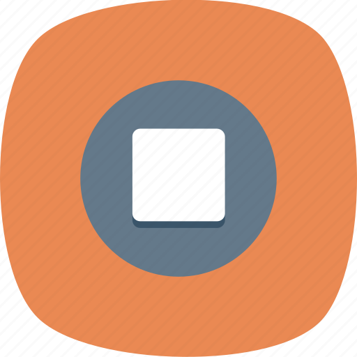 audio, media, music, player, sound, stop, video icon