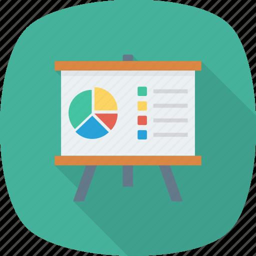 Analytics, training, presentation, graph icon