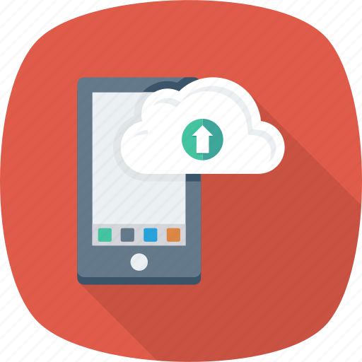 app, cloud, drive, mobile, upload icon