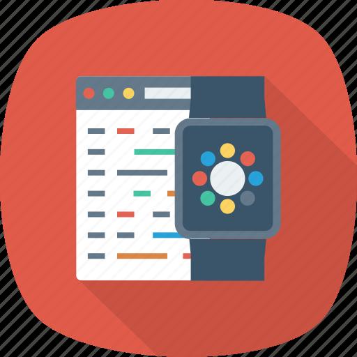Development, code, apple, watch, program, watchkit, iwatch icon