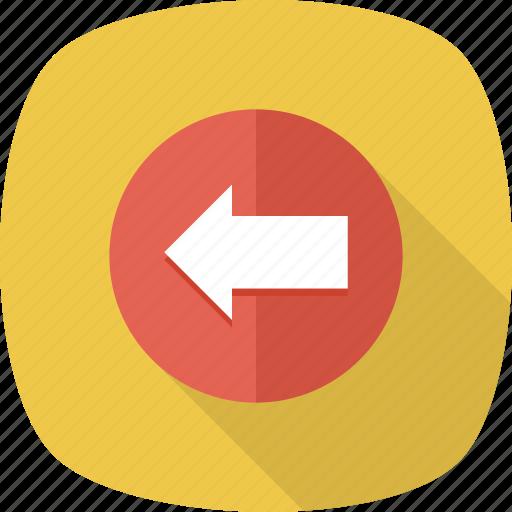 Direction, arrows, back, arrow, left icon
