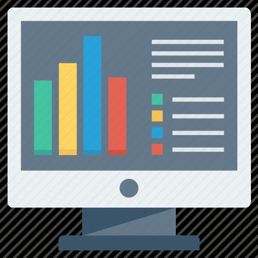 analysis, chart, charts, diagram, graph, graphs, monitor icon
