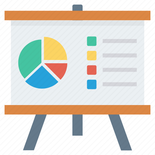 analytics, graph, presentation, training icon