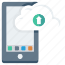 mobile, app, drive, cloud, upload icon