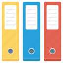 archive, colorful, documents, folders, office icon