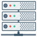array, hosting, network, rack, server, storage, system icon