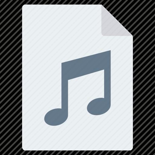 audio, document, file, mp3, music, sound icon