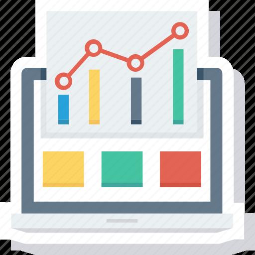 analysis, graph, report, web icon