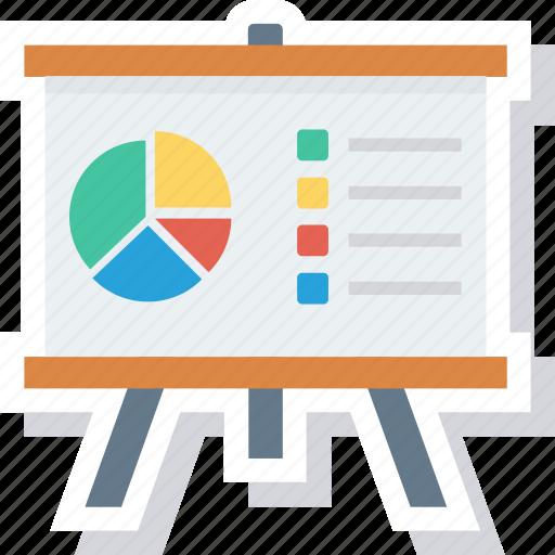analytics, graph, presentation, training icon