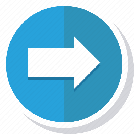arrow, circle, direction, disclosure, navigation, next, right icon