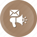 announcement, mail, marketing, newsletter icon