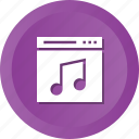 app, application, browser, music, page, web, website icon