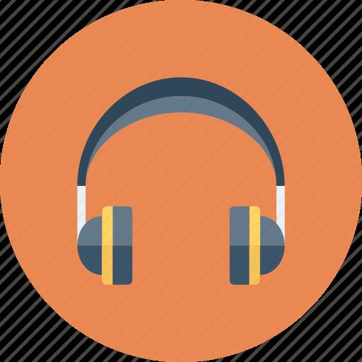 earphone, handset, headphone, headphone with mic icon icon
