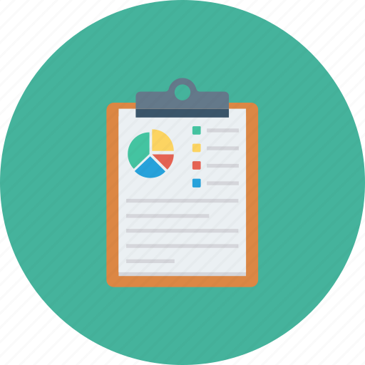 analytics, charts, clipboard, graph, monitoring, report, report sales icon icon