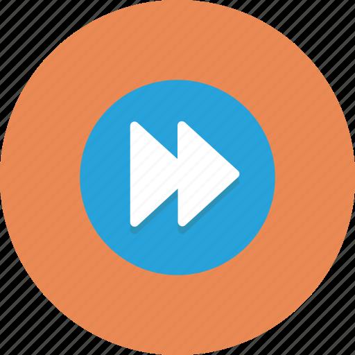 action, control, forward, media, music icon icon
