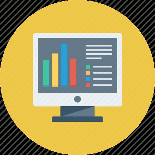 analysis, chart, charts, diagram, graph, graphs, monitor icon icon