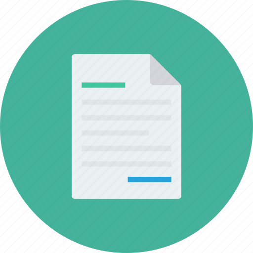 document, letter, note, page, paper, report icon icon