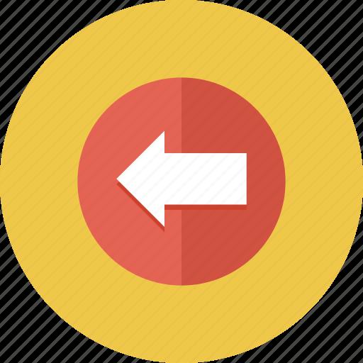 arrow, arrows, back, direction, left icon icon