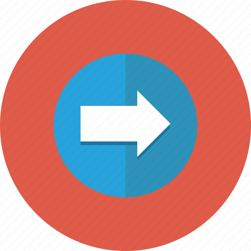 arrow, circle, direction, disclosure, navigation, next, right icon icon