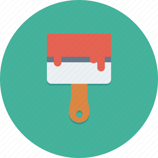brush, coat, decorating, paint, purdy, rollar, wall icon icon