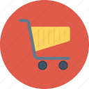 basket, cart, purchase, shop, shopping, shopping cart, shopping trolleys icon icon