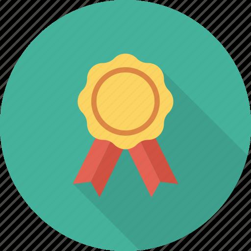 award, ribbon, star icon