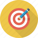 pencil, target, idea, dart, board, bullseye, goal icon