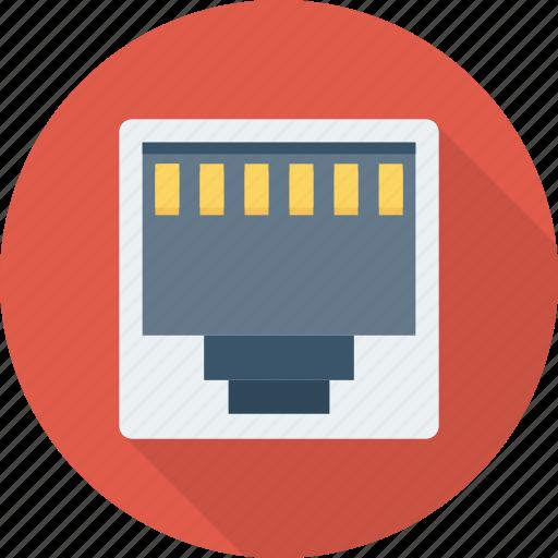 broadband, hub, network, port, socket icon
