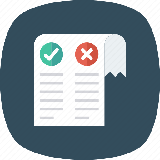 Book, check, cross, list, mark, true, wrong icon - Download on Iconfinder