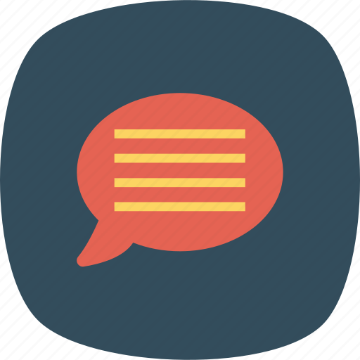 Bubble, chat, comment, communication, message, speech, talk icon - Download on Iconfinder