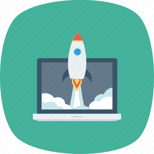 business, clouds, fast, launch, launching, rocket, skyrocket icon