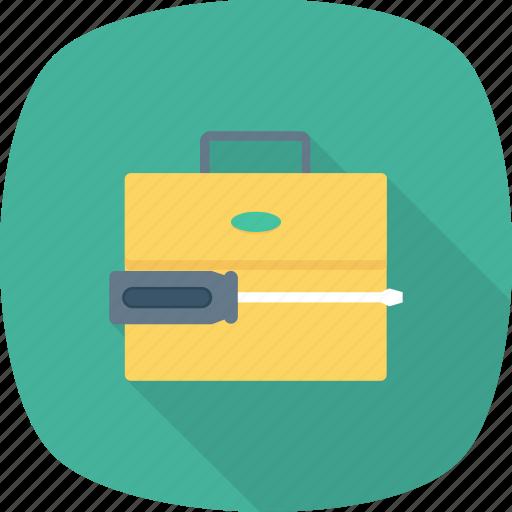 briefcase, content, data, management, optimization, portfolio, settings icon