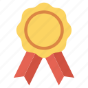 award, ribbon, star icon