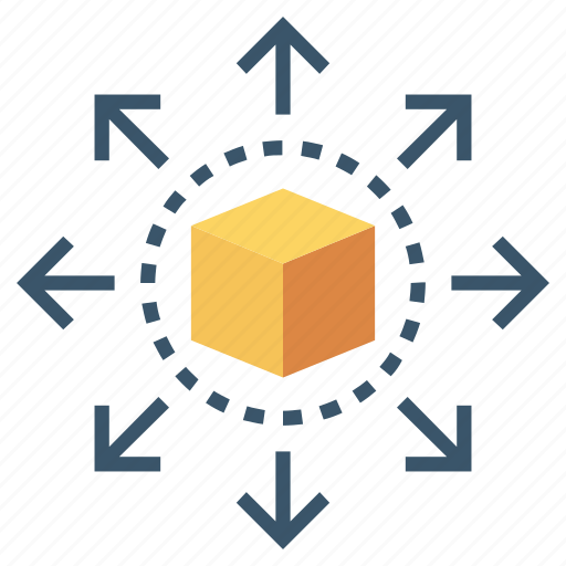 big, cube, data, share, sharing icon