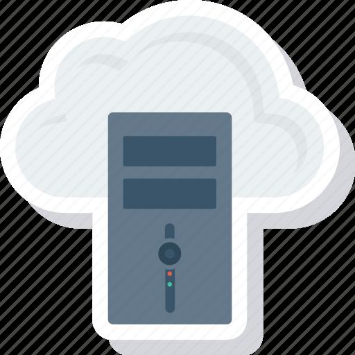 database, host, hosting, server, settings, share icon