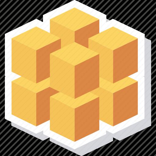 block, box, data, database, registry, rubiks icon