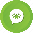bubble, rate, star, chat, rank icon