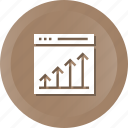 web, business, success, marketing, growth, cahrt, seo icon