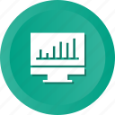 business, graph, monitor icon