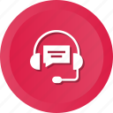 bubble, chat, customer, headphone, representative, service icon